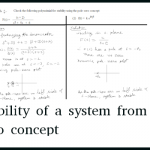 Stability of a system from Pole-zero concept